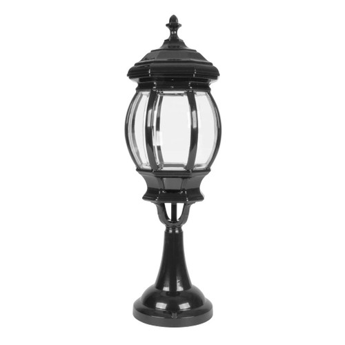Vienna Large Pillar Mount Light - Black Finish / B22