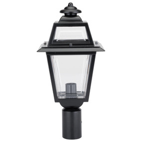Avignon Post Top Light - Black Finish / B22