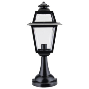 Avignon Pillar Mount Light - Black Finish / B22
