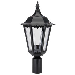 Chester Post Top Light - Black Finish / B22