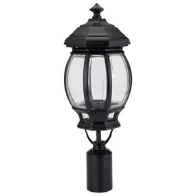 Vienna Post Top Light - Black Finish / B22