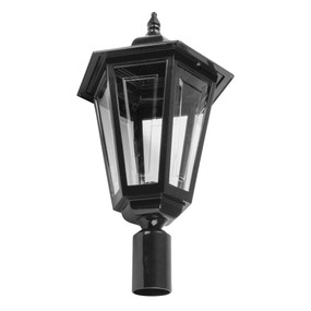 Turin Large Post Top Light - Black Finish / B22