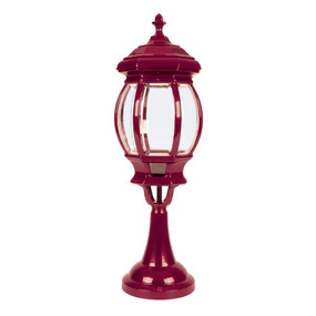 Vienna Large Pillar Mount Light - Burgundy Finish / B22
