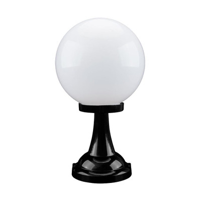 Siena 30cm Sphere Pillar Mount - Black Finish / E27
