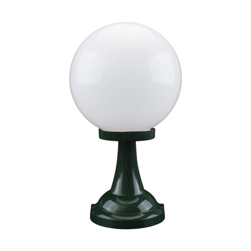 Siena 25cm Sphere Pillar Mount - Green Finish / E27
