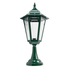 Turin Large Pillar Mount - Green Finish / B22