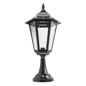 Turin Large Pillar Mount - Black Finish / B22
