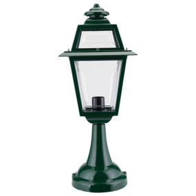 Avignon Pillar Mount Light - Green Finish / B22