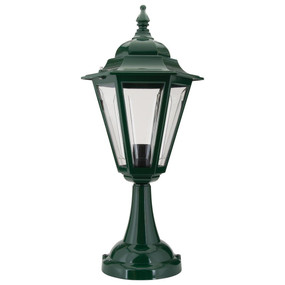 Turin Pillar Mount - Green Finish / B22