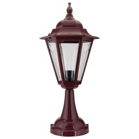 Turin Pillar Mount - Burgundy Finish / B22
