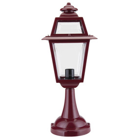 Avignon Pillar Mount Light - Burgundy Finish / B22
