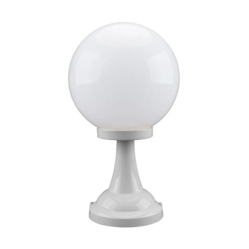 Siena 30cm Sphere Pillar Mount - White Finish / E27