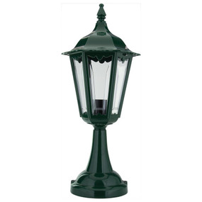 Chester Pillar Mount - Green Finish / B22