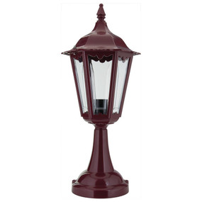 Chester Pillar Mount - Burgundy Finish / B22