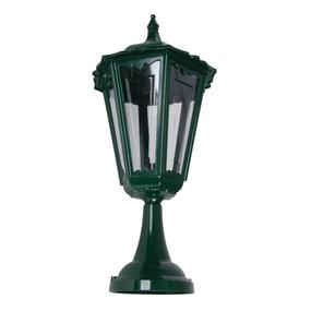 Chester Large Pillar Mount Light - Green Finish / B22