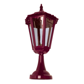 Chester Large Pillar Mount Light - Burgundy Finish / B22