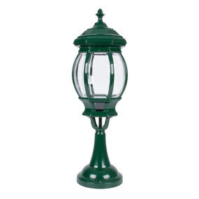Vienna Large Pillar Mount Light - Green Finish / B22