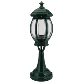 Vienna Pillar Mount Light - Green Finish / B22