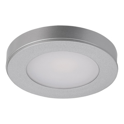 ASTRA Round 12V 3.6W LED Cabinet Light - Silver Finish / White LED