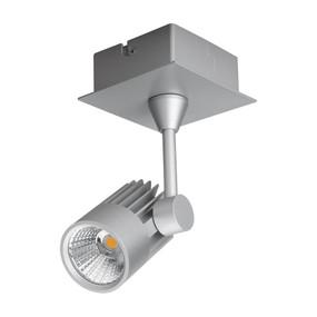 Single LED Spotlight - Silver Finish / White LED