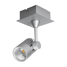 Single LED Spotlight - Silver Finish / Warm White LED