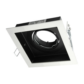 Square Slotter Single Light Downlight Frame - White Frame