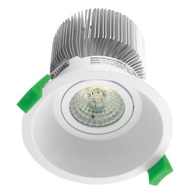 Round 13W Deepset LED Downlight - White Frame / Warm White LED