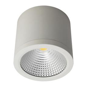 Cylindrical 240V 25W LED Ceiling Light - White Finish / Warm White LED