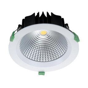 Round 25W Dimmable LED Downlight - White Frame / Warm White LED