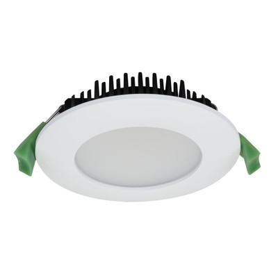 SPLASH Round 13W Splash Proof LED Downlight - White Frame / Warm White LED