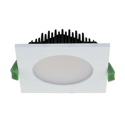 SPLASH Square 13W Splash Proof LED Downlight - White Frame / Warm White LED