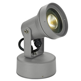 240V 9W LED Spotlight - Silver / Warm White LED
