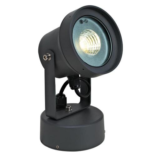 240V 12W LED Spotlight - Dark Grey / Warm White LED