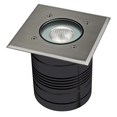 24V 9W LED Inground Light - Aluminium Finish / White LED