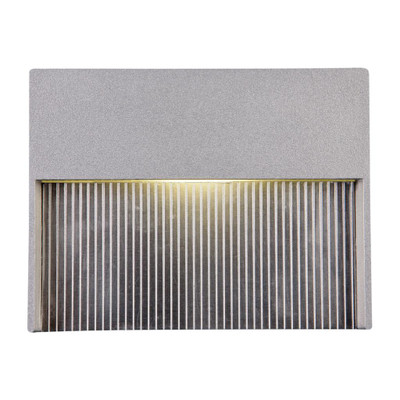 4W Recessed Steplight - Silver / Warm White LED