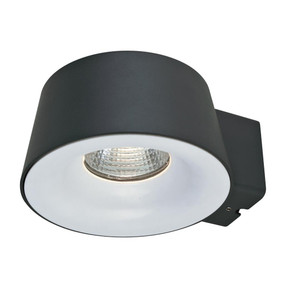 CUP 240V 10W LED Wall Light - Dark Grey Finish / Warm White LED