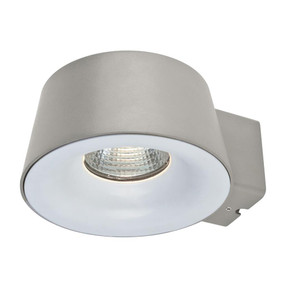 CUP 240V 10W LED Wall Light - Silver Finish / Warm White LED