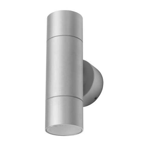 Cylindrical 240V 12W Two Way LED Wall Light - Anodised Finish / White LED