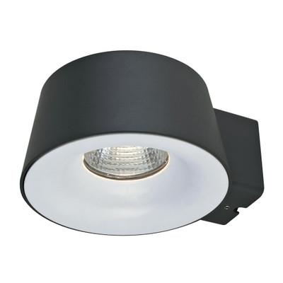 CUP 240V 10W LED Wall Light - Dark Grey Finish / White LED