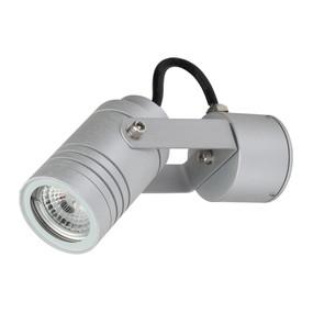 Adjustable 240V 6W LED Spotlight - Aluminium Finish / White LED