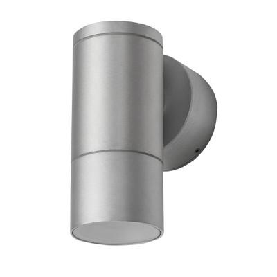 Cylindrical 240V 6W LED Wall Light - Anodised Finish / White LED