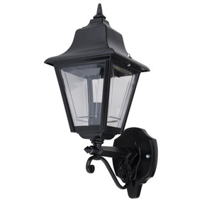 Paris Upward Wall Light - Black Finish / B22