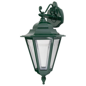 Turin Downward Wall Light - Green Finish / B22