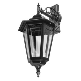 Turin Large Downward Wall Light - Black Finish / B22