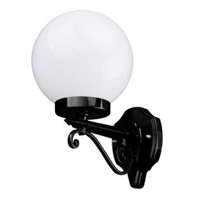 Siena 20cm Sphere Wall Light - Black Finish / E27