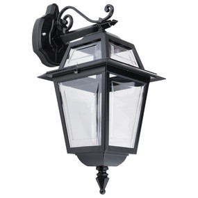 Avignon Downward Wall Light - Black Finish / B22