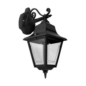 Paris Downward Wall Light - Black Finish / B22