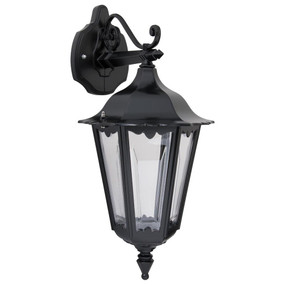 Chester Downward Wall Light - Black Finish / B22