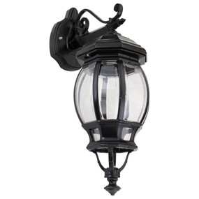 Vienna Downward Wall Light - Black Finish / B22