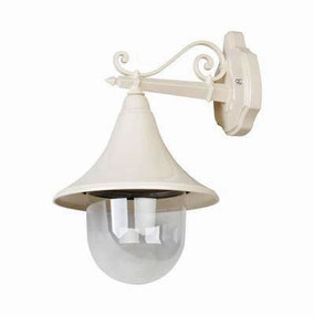 Industrial Hanging Wall Light - Beige Finish / E27
